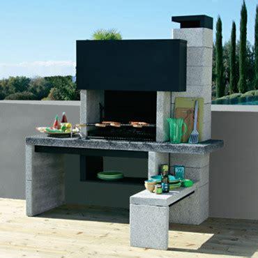 cuisine d été en reconstituée barbecue castorama fixe