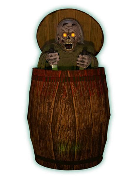 Animated Zombie Barrel Prop  Halloween Decorations Wiki