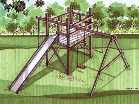 woodwork wooden jungle gym plans  plans