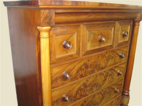 Antique victorian mahogany chest cabinet pie crust. Antique Mid Victorian Tall Chest of Drawers   ANTIQUES.CO.UK