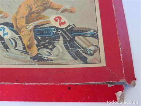 Un videojuego de carreras es un videojuego en el que se imitan competencias entre vehículos. antiguo juego carreras de motos - años 30 40 - Comprar ...