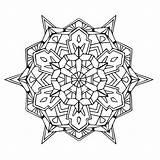 Mandala Coloring Geometric Pages Mandalas Designs Intricate Infinity sketch template