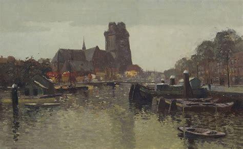 soer  christiaan chris soer schilderijen te koop aangeboden de nieuwe haven met de