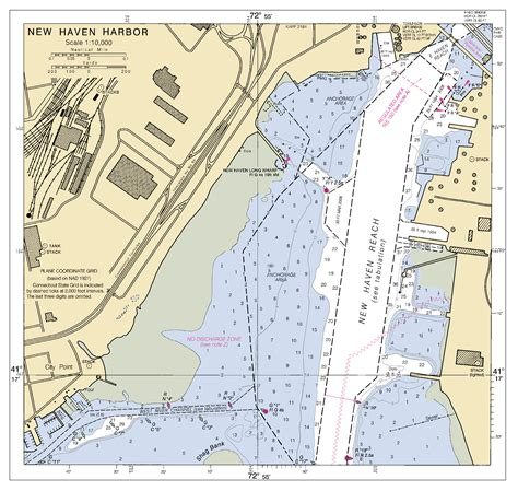 NEW HAVEN HARBOR INSET CONN nautical chart - ΝΟΑΑ Charts ...