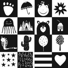 monochrome high contrast black  white stimulation cards