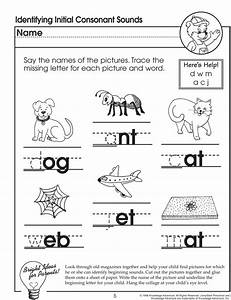 identifying initial consonant sounds missing letters With letter sounds for preschool