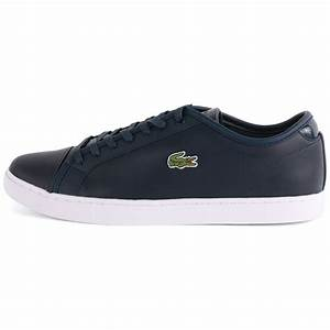 Lacoste Showcourt Nal Mens Leather Dark Blue Trainers New ...