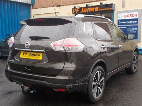 nissan x trail 2016 fitted with pf jones detachable swan neck tow bar at pf jones hq nissan