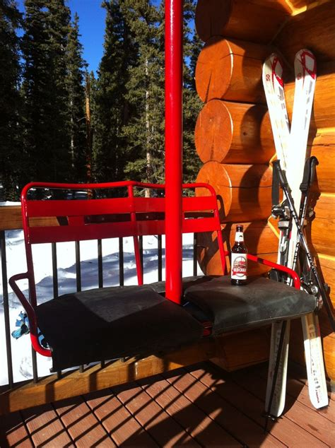 neat ideas use an ski lift chair as a front porch