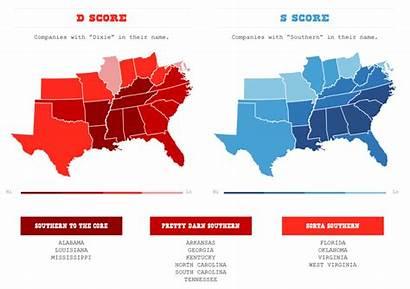 Dixie Dead Southern South Maps Reed Carolina