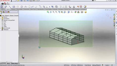 solidworks build steel structural frame heigh speed