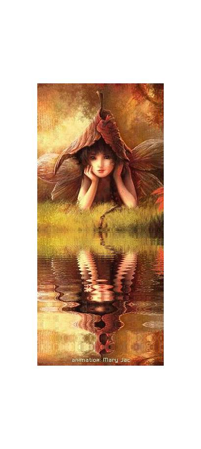 Fairy Fairies Fantasy Autumn Animated Shy Friends