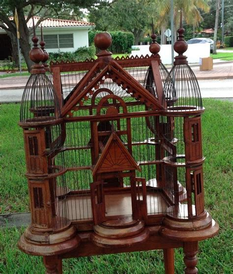 details  antique victorian style bird cage house