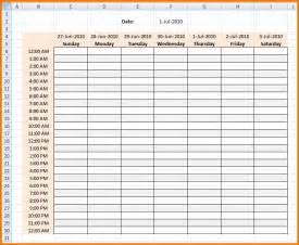 Weekly Work Schedule Template Excel