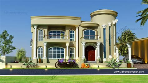 Beautiful Villa Design 3D Elevation
