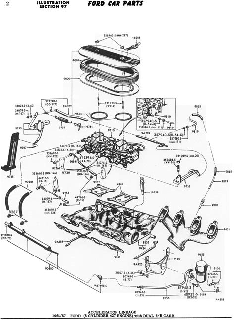 65 Mustang Engine Diagram by Ford 427 8v Linkage