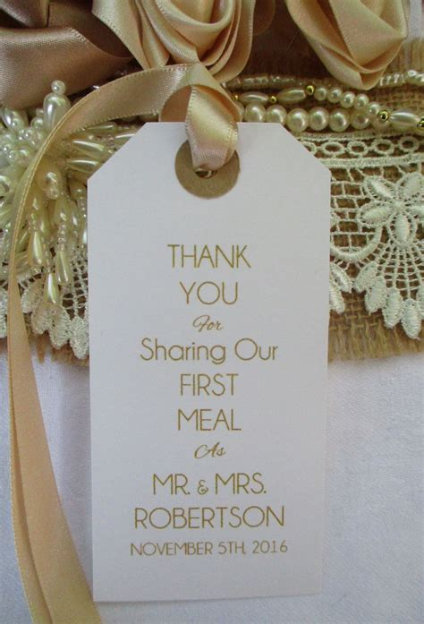 wedding table place setting tag napkin tie