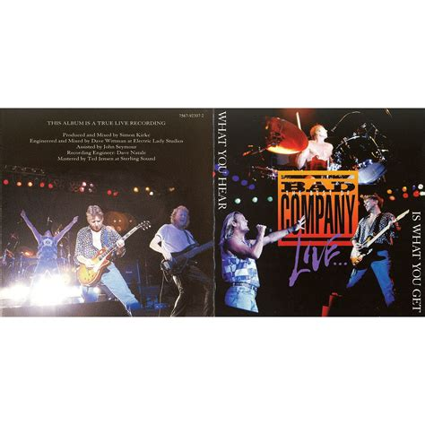 What You Hear Is What You Get (live)  Bad Company Mp3 Buy