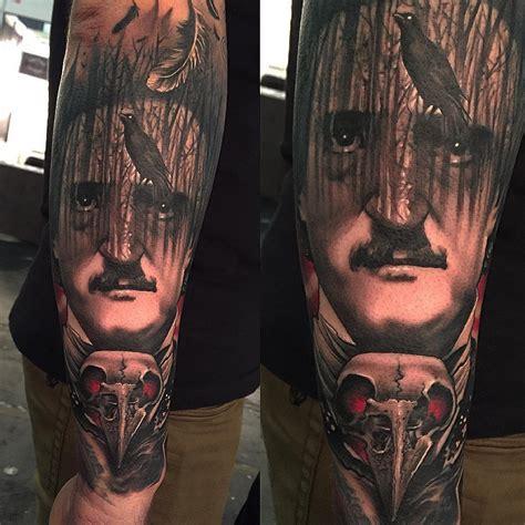raven edgar poe tattoo  tattoo ideas gallery