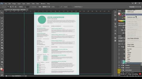 how to edit resume cv in photoshop and microsoft word