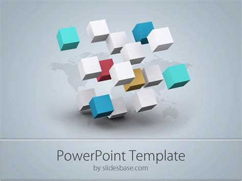 business cubes powerpoint template slidesbase