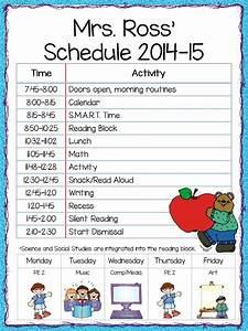 Elementary School Schedule Template | listmachinepro.com