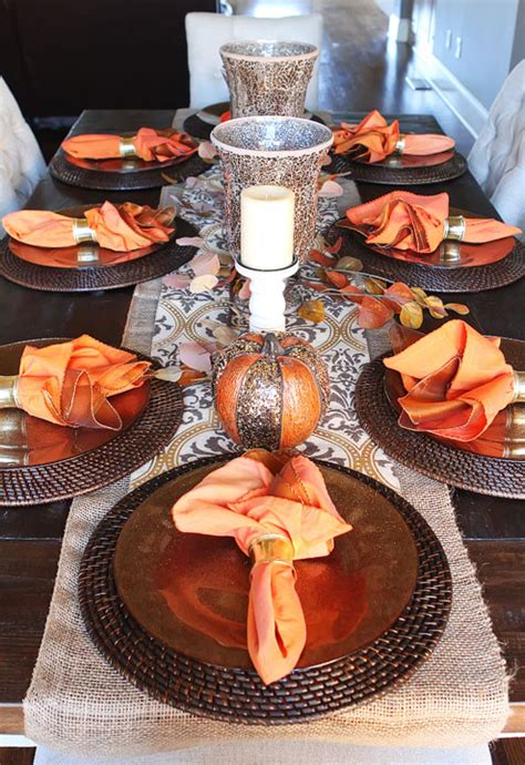 fall dining table decorations 25 elegant thanksgiving table decoration ideas the