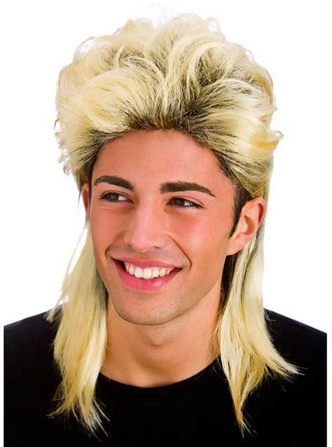 wham wig blonde 80s long mullet jason donovan scott wig mens fancy