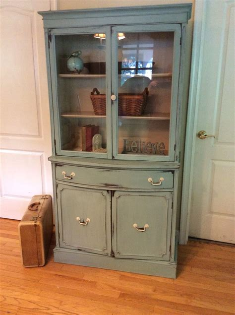 small china cabinet painted  annie sloan duck egg blue