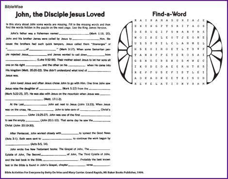 the beloved disciple puzzle korner biblewise church bible disciples