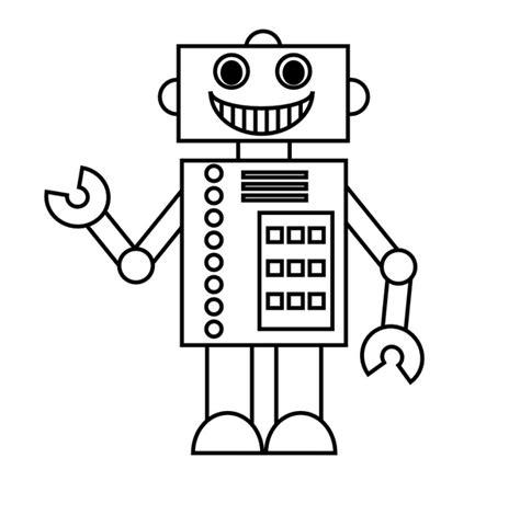 Tijdmachine Kleurplaat by Robot Kleurplaat Robot Coloring Pages For Easy