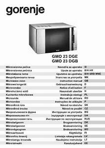 Gorenje Gmo 23 Dgb Microwave Oven Download Manual For Free