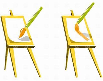 Easel Clip Clipart Paint Paintbrush Vector Brush