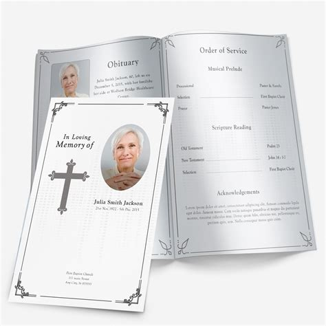 Free Printable Funeral Program Template Free Printable Funeral Programs Health Symptoms And Cure