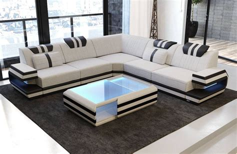 Modern Sectional Fabric Sofa San Antonio L Shape With Led