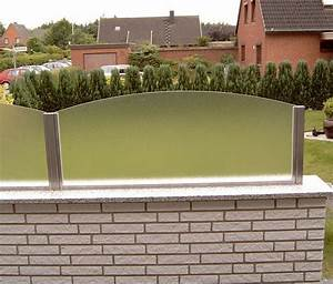 terrassen sichtschutz glas die neueste innovation der With feuerstelle garten mit französische balkone aus glas