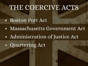 Image result for Coercive Acts