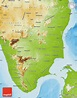 Physical Map of Tamil Nadu