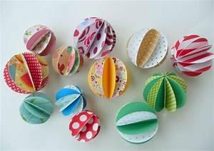 Boule En Papier : tuto des boules en papier le bonheur est aussi dans la cr ativit ~ Teatrodelosmanantiales.com Idées de Décoration