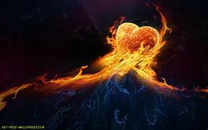 Download Fire Heart Wallpaper