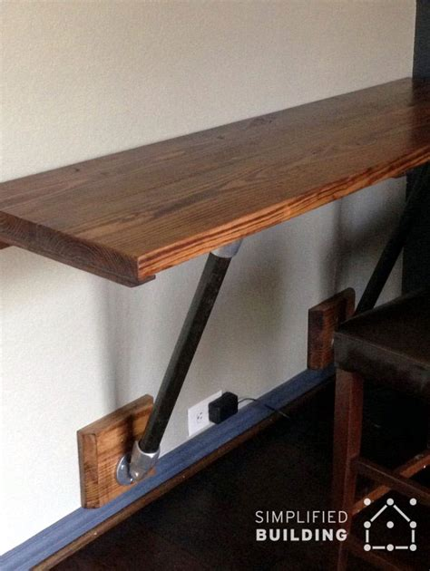 how to make a wall mounted desk wall mounted desks great for small spaces simplified
