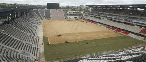 grass pitch laid down at dc united s new home audi field mlssoccer com