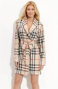 burberry check print robe in beige classic check lyst With robe burberry fille