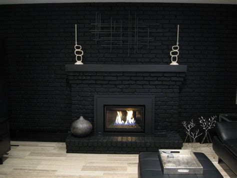black painted brick fireplaces for the home painted