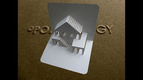 pop  house card  tutorial origamic architecture