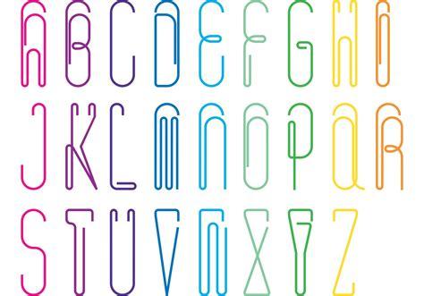 paper clip alphabet vector pack   vectors