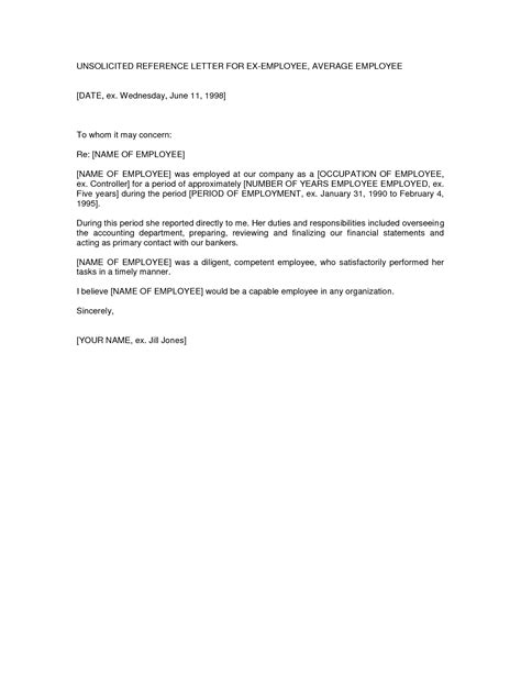 letter of employment sle template resume builder