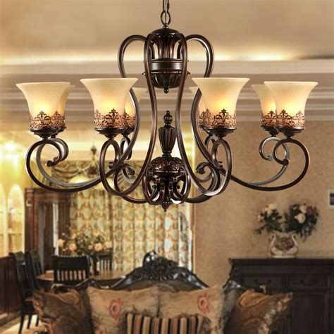rustic chandeliers wrought iron aliexpress buy antique black wrought iron chandelier