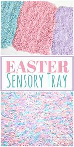 How To Make A Colorful Sensory Tray Easter Activity For