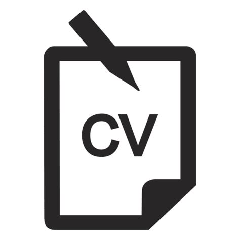 14191 resume icon transparent cv icon transparent png svg vector